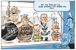David Pope Post election line-up, from the Canberra times 7 July 2016.
